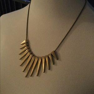Express brassy spike necklace